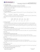 Tóm tắt lý thuyết hoá học 12Chương 4: ĐẠI CƯƠNG KIM LOẠI docx