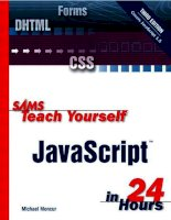 sams teach yourself javascript in 24 hours 3rd (2002)