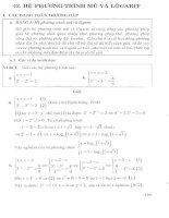 Hệ phương trình mũ và logarit