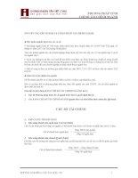 Phương pháp tính các chỉ số tài chính, bảng cân đối kế toán