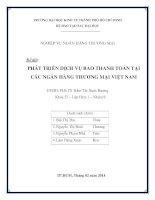 Phát triển dịch vụ bao thanh toán tại các ngân hàng thương mại Việt Nam