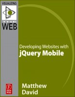 focal press developing websites with jquery mobile