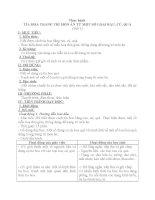 Bài 24: Thực hành - Tỉa hoa trang trí món ăn từ một số loại rau, củ, quả - Giáo án Công nghệ 6 -