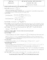 đề thi thử đại học môn toán năm 2014