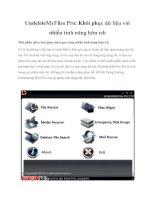 UndeleteMyFiles Pro: Khôi phục dữ liệu với nhiều tính năng hữu ích doc