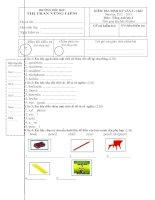 Kiểm tra định kỳ lần 2 - CKII môn tiếng anh lớp 2 - trường tiểu học Thị Trấn Vũng Liêm doc