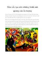 Màu sắc tạo nên những hình ảnh quảng cáo ấn tượng pdf