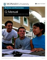 Business and Economics Q Manual A student guide for producing quality work on time ppt