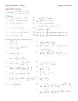 Các bài toán bất đẳng thức