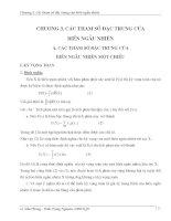 Giáo trình lý thuyết xác suất và thống kê toán chương 3: Các tham số đặc trưng của biến ngẫu nhiên
