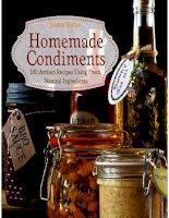 Homemade condiments artisan recipes using fresh, natural ingredients