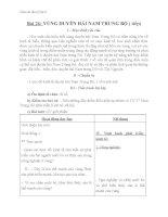 Giáo án bài Vùng Duyên Hải Nam Trung Bộ (tt) - Địa 9 - GV.N M Thư: