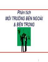 quản trị chiến lược 2 MÔI TRƯỜNG BÊN NGOÀI& BÊN TRONG
