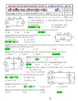 tổng hợp các đề thi môn kỹ thuật điện