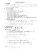 Chuyên đề  khảo sát hàm số ôn thi đại học