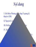 Phương pháp chụp X quang kỹ thuật số (DR)