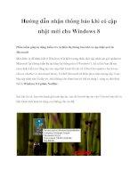 Hướng dẫn nhận thông báo khi có cập nhật mới cho Windows 8 pdf