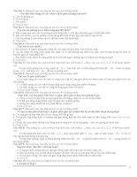 Bài tập trắc nghiệm sinh học 9 học kỳ II tham khảo