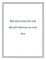 Đặt nền móng cho một thế giới Internet an toàn hơn docx