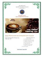 Phân tích sự thành công của thương hiệu cà phê Trung nguyên