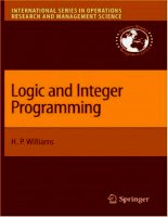 williams - logic and integer programming (springer, 2009)