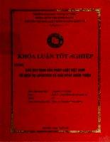 khóa luận tốt nghiệp các quy định của pháp luật việt nam về dịch vụ logistics và giải pháp hoàn thiện