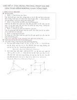 Ứng dụng phương pháp tọa độ giải toán hình học không gian tổng hợp