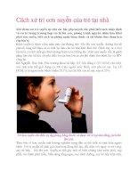 Cách xử trí cơn suyễn của trẻ tại nhà doc