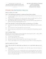 ĐỀ THI TUYỂN SINH SAU ĐẠI HỌC THÁNG 5 NĂM 2013 Môn thi: KINH TẾ HỌC pdf