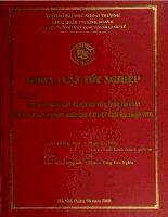 khóa luận tốt nghiệp một số vấn đề đặt ra đối với việc thực thi luật đầu tư việt nam năm 2005 sau khi việt nam gia nhập wto