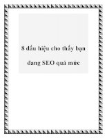 8 dấu hiệu cho thấy bạn đang SEO quá mức docx