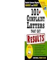 101 complaint letters