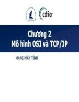 Giáo án Bài giảng: Giáo án môn mạng máy tính nâng cao Chương 2: Mô hình OSI và TCP/IP