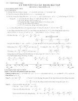 Lý thuyết và các bài tập dao động cơ học
