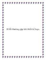 10 lỗi thường gặp khi thiết kế logo. pot