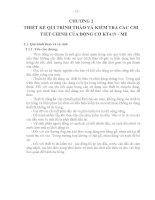 THIẾT kế QUI TRÌNH THÁO và KIỂM TRA các CHI TIẾT CHÍNH của ĐỘNG cơ KTA19   ME