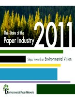 The State of the Paper Industry 2011 Steps Toward an Environmental Vision potx