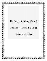 Hướng dẫn tăng tốc độ website - speed up your joomla website pptx