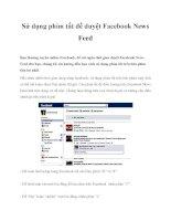 Sử dụng phím tắt để duyệt Facebook News Feed docx