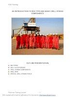 Tổng quan về các thiết bị trong ngành dầu khí - AN INTRODUCTION TO RIG TYPE AND BASIC DRILL STRING COMPONENTS