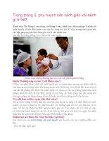Trong tháng 5, phụ huynh cần cảnh giác với bệnh gì ở trẻ? ppt
