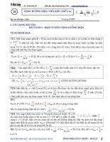 Luyện thi đại học môn vật lý chuyên đề hiện tượng cộng hưởng điện