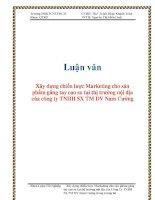 Luận văn: Xây dựng chiến lược Marketing cho sản phẩm găng tay cao su tại thị trường nội địa của công ty TNHH SX TM DV Nam Cường ppt