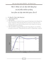 Báo cáo thực hành môn lý thuyết điều khiển tự động