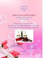 pháp luật về phòng chống bạo lực gia đình đối với trẻ em - thực tiễn tại thị xã hương thủy, tỉnh thừa thiên huế