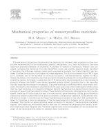 Mechanical properties of nanocrystalline materials ppt