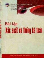 Bài Tập Xác Suất Và Thống Kê Toán - Nguyễn Cao Văn