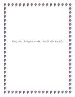 Một số bài ca dao truyền miệng chủ đề lao động pdf