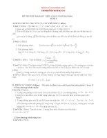 Bộ đề thi thử Đại học môn Toán 2013 - 2014 có đáp án chi tiết