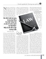 Xác định luật áp dụng trong hợp đồng mua bán hàng hóa có yếu tố nước ngoài tại Việt Nam - Một số vấn đề lý luận và thực tiễn